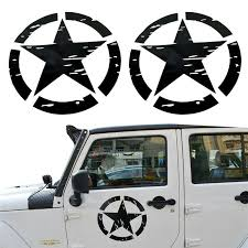 Pair Car Decal Sticker Army Star On Doors Upgrade Kit Stage For Jeep Suv Atv Ebay