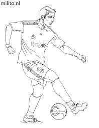 Kleurplaat Voetbal De Mooiste Kleurplaten Milito Nl