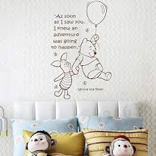 Amazon Com Hot Cute Balloon Little Bear Wall Decal Girls Boys Baby Room Nursery Vinyl Sticker Quotes Wall Decal Kids Room Wall Art Stickers Diy Home Decor Wall Decorations Black Kitchen Dining