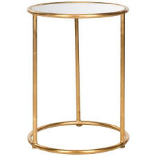 safavieh shay gold mirror top end table