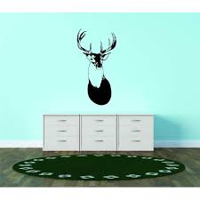 Custom Wall Decal Deer Head Buck Antler Hunting Animal Vinyl Wall Vinyl Peel And Stick Sticker Wall Graphic 10x30 Walmart Com Walmart Com