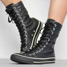 converse shoes vintage 90s black
