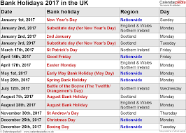 Scotland Bank Holidays 2019
