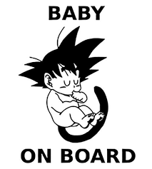 Goku Baby On Board Dragon Ball Z Car Truck Window Vinyl Sticker Decal 3 6 X 5 Ebay Goku Decal Dragon Ball Custom Vinyl Stickers