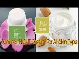 homemade skin whitening night cream