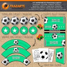 Kit Imprimible Pelotas De Futbol Personalizado Candy Bar 600
