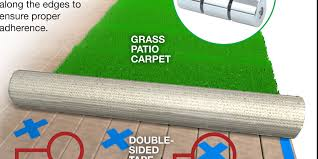 use outdoor carpeting on your patio and