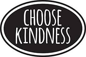 Amazon Com Choose Kindness Vinyl Sticker Decal 5 X3 3 Black Computers Accessories