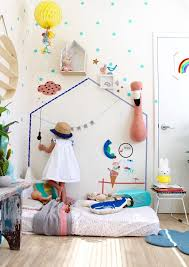 Vintage Room Decor For Children Featuring Decals And Accessories By Mimi Lou Paris More Inspiration And Ide Vintage Kids Room Colorful Kids Room Toddler Rooms