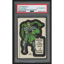 1976 Marvel Super Heroes Stickers 10 Dr Doom Psa Authentic Pristine Auction