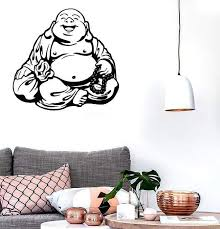 Large Wall Stickers Vinyl Decal Smiling Chinese God Good Luck Symbol F Wallstickers4you