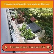 Outdoor Hanging Plant Rack Round Flower Pot Balcony Fence Lazada Ph