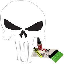 Jeep Wrangler Side Hood Decal Kit Punisher Skull Matte Black Sticker Tj Lj Jk