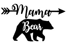Mama Bear Mom Life Black Decal Vinyl Sticker Cars Trucks Vans Walls Laptop Black 5 5 X 3 5 In Lli532 Car Stickers Aliexpress