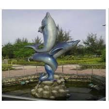 antique outdoor dolphin frp fountain