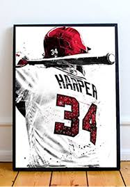 Amazon Com Bryce Harper Limited Poster Artwork Professional Wall Art Merchandise More 8x10 Posters Prints