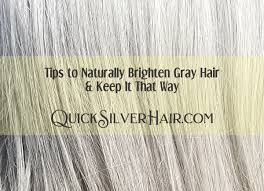tips to naturally brighten gray hair