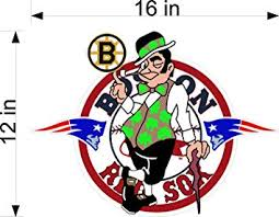 Amazon Com Boston Sports Fan Irish 12 Logo Bosoxpat Vinyl Decal Vehicle Graphic Celtics Red Sox Bruins Patriots Sticker Automotive