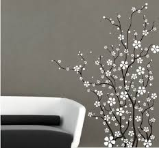 Flower With White Cherry Blossom Wall Art Vinyl Wall Decal Wall Stickers Mural Home Decor For Living Room Adesivo De Parede Wall Sticker Home Decorvinyl Wall Aliexpress
