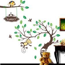 Monkey Tree Wall Art Stickers Kids Decal Removable Decor Decals Home Johnkart Usa Llc