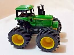 toy monster truck tractor green plastic