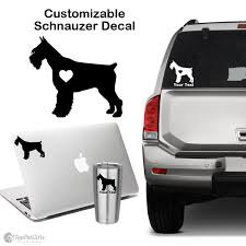 Personalized Schnauzer Decal Top Pet Gifts