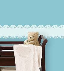 Baby Blue Stripe Decal Decorative Wall Appliques Amazon Com