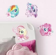 My Little Pony Movie Wall Stickers 4 Big Watercolor Decals Rainbow Dash Mlp Ebay