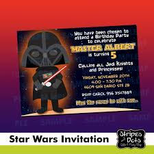 Invitaciones De Star Wars Joda Jedi Darth Vader Star Wars