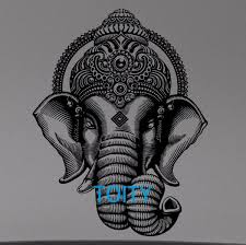 Ganesha Crown Wall Decal Hindu Gods Vinyl Sticker Room Interior Decor Holyhindustore