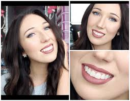 mauve lips fall makeup tutorial
