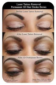 how to remove permanent makeup brows