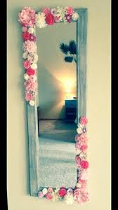 diy flower mirror artificial flowers