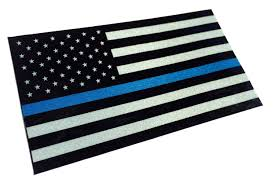 Police Officer Thin Blue Line Reflective American Flag Decal Sticker Choose Size Empire Tactical Usa