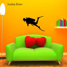 Scuba Diver Decal Large Small Stickers Lots Of Colors