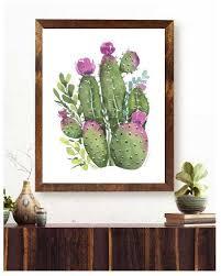 cactus wall art succulent wall art