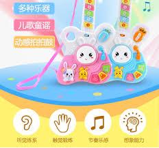 Đồ chơi guitar cho trẻ em có thể chơi Mini phim hoạt hình mô phỏng nhạc cụ  piano với nhạc đàn guitar đồ chơi bé trai và bé gái 3 tuổi