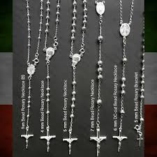 925 sterling silver rosary necklace