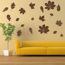 Shop Falling Leaves Floral Wall Decal Overstock 10879491