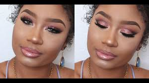 pink glitter prom 2016 makeup tutorial