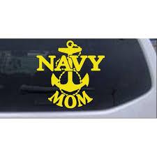 Navy Mom Car Or Truck Window Decal Sticker Walmart Com Walmart Com