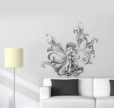 Wall Decal Beautiful Girl Fairy Fantasy Butterfly Pattern Vinyl Sticke Wallstickers4you
