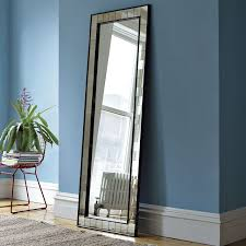 antique tiled floor mirror