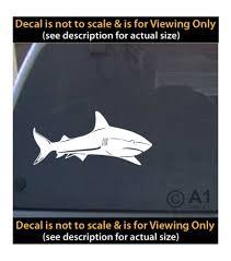 Shark Vinyl Decal 6 Inch Fishing Ocean Outdoors 4 Car Truck Home Laptop Fun More Saltwater Combos