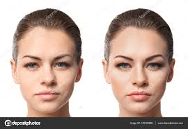 face professional makeup application