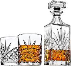 com whiskey decanter set with
