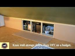 knee wall storage diy on a budget