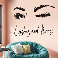 Lashes Eyebrows Wall Decal Gladgirl