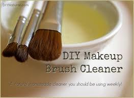 diy makeup brush cleaner a natural
