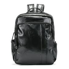 faux leather backpack rucksack daypack